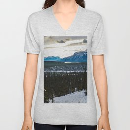 On route to Brule Alberta, Canada Unisex V-Neck