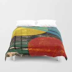 - abstract sunset - Duvet Cover