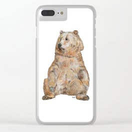 Sitting Bear Clear iPhone Case