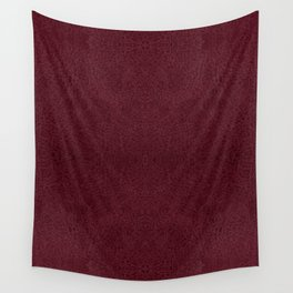 Red leather sheet background Wall Tapestry