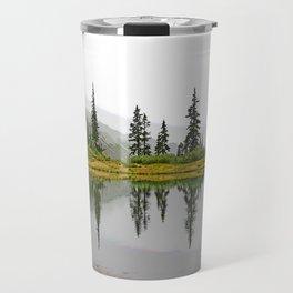 REFLECTIONS ON A PLACID MOUNTAIN LAKE Travel Mug