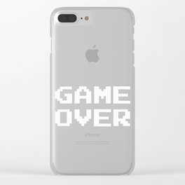 Game Over Clear iPhone Case