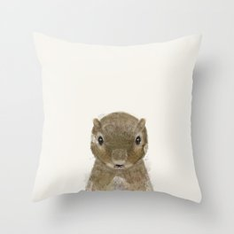 little squirrel Throw Pillow
