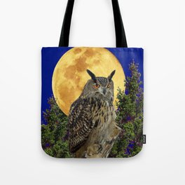 NIGHT OWL WITH FULL MOON Tote Bag