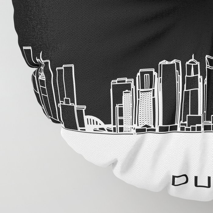 Dubai Skyline - Black Base Floor Pillow
