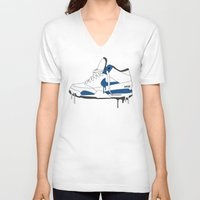 nike V-neck T-shirts featuring Nike Air Flight  by GRIB'