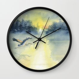 Flying Home - Great Blue Heron Wall Clock