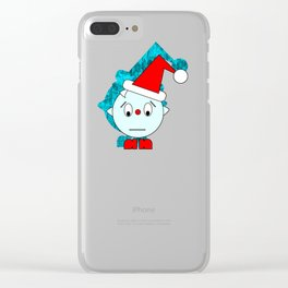 Funny Emotionless Head Clear iPhone Case