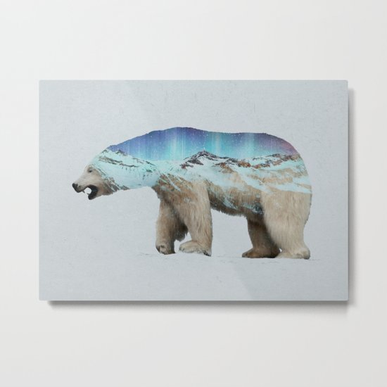 The Arctic Polar Bear Metal Print