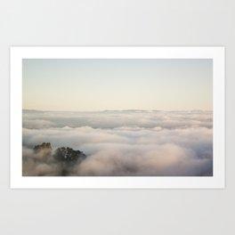 foggy coverup Art Print