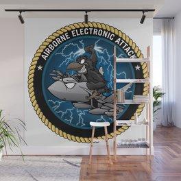 Airborne Electronic Attack EA-18 Growler Cartoon Wall Mural