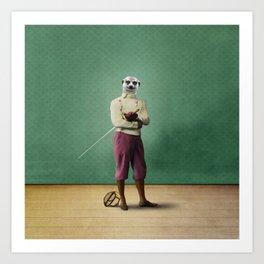 Milton Meerkat: Fencing Master Art Print