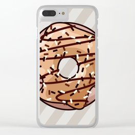 Toffee and Chocolate Donut Clear iPhone Case