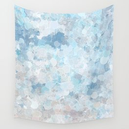 Graffiti dream - blue and nude Wall Tapestry