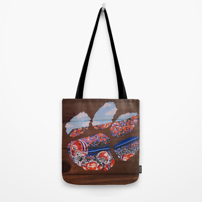 Clemson Tiger Paw Tote Bag