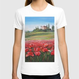 Italian Poppy Field T-shirt