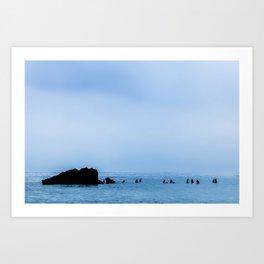 Surfing - Morning Lull Art Print