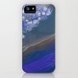 Deep Blue feat White Cells iPhone Case