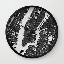 New York – Abstract Map Wall Clock