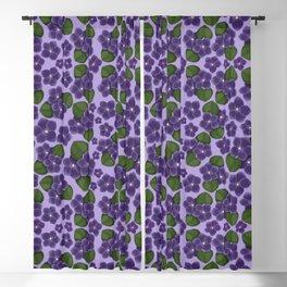 Violets are purple Floral Pattern Blossoms Blackout Curtain
