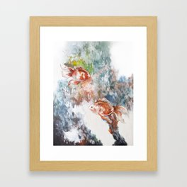 Fish Flow Framed Art Print