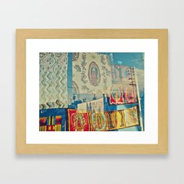 LA Window - Our Lady of Guadalupe Framed Art Print
