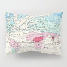 Vintage World Climate Map (1870) Pillow Sham