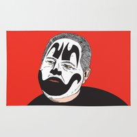 rush Area & Throw Rugs featuring Rush Juggalaugh by Chris Piascik