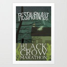 Black Crow Marathon Art Print