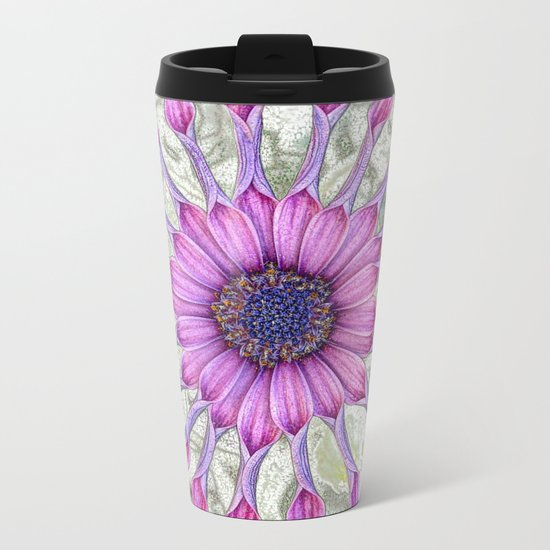 Daisy (flowers collection) Metal Travel Mug