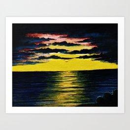 California Sunset by Granville Redmond Art Print