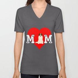 Dog Mom Heart Paw Prints Moscow Watch Unisex V-Neck