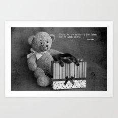 Teddy love Art Print