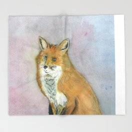 Frustrated Fox Throw Blanket