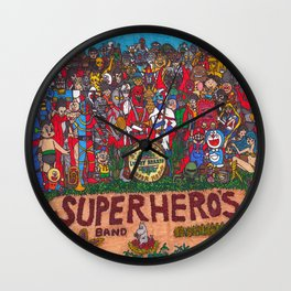 SGT. PEPPER'S LONELY HEARTS SUPERHERO'S BAND Wall Clock