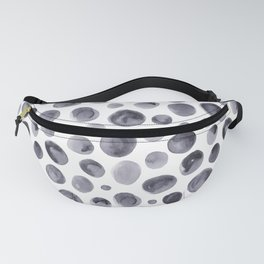 Watercolor Grey Dots Pattern Fanny Pack