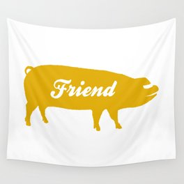 Pig Friend (yellow) Wall Tapestry