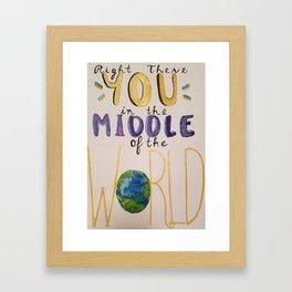 Middle of the World Framed Art Print