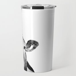 Cow photo - black and white Travel Mug