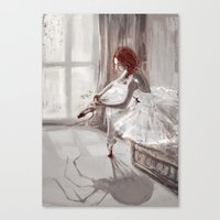 ballerina Canvas Prints featuring Ballerina by Monika Gross
