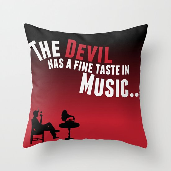 Devil Music Throw Pillow