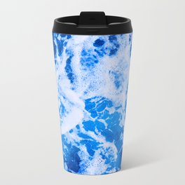 Blue Ocean Waves Metal Travel Mug