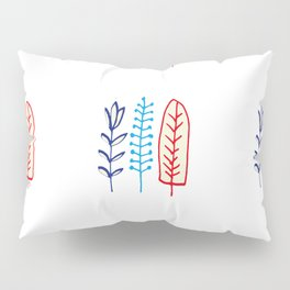 Fall and winter leaves white Pillow Sham