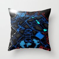 knight Throw Pillows featuring Knight by Dmarmol