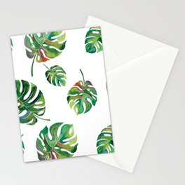 Watercolor Palm Leaves Stationery Cards