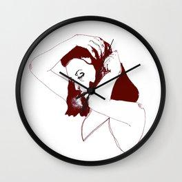 unseen girl Wall Clock