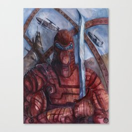 Aquanoid Warrior Canvas Print