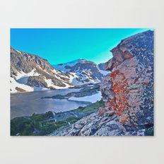 Froze To Death Lake Canvas Print