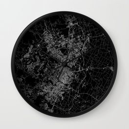 Austin map Texas Wall Clock