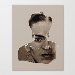 FRIDA - SHIRT version - sepia Canvas Print